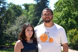 Natália Landeiro com seu noivo, Paulo.
