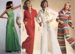 Alguns modelos de macacões da década de 1970