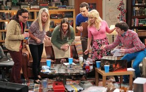 No Merchandising. Editorial Use Only. No Book Cover Usage  Mandatory Credit: Photo by REX/c.CBS / courtesy Everett Collection (2706864e)  The Big Bang Theory, (From Left): Johnny Galecki, Kaley Cuoco, Mayim Bialik, Jim Parsons, Melissa Rauch, Simon Helberg  The Big Bang Theory - June 2013
